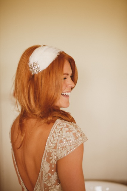 Beautiful Halfpenny London bride Katie wears the Marianne hand beaded and embroidered tulle wedding dress 1.jpeg