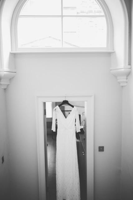 Beautiful Jude wears a wedding dress by Halfpenny London