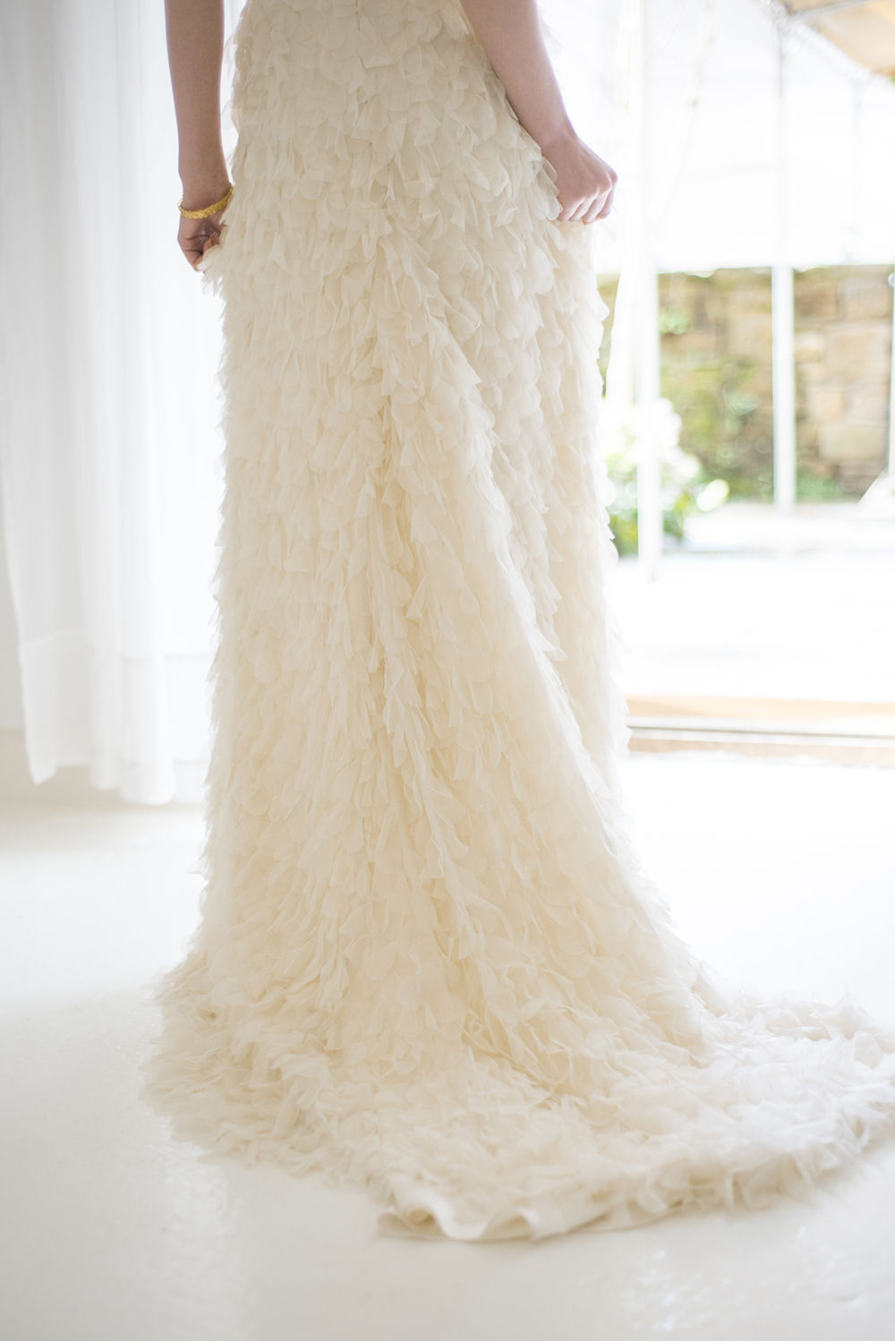 Halfpenny London wedding dress as seen on Rock My Wedding.  Image by Georgina Harrison