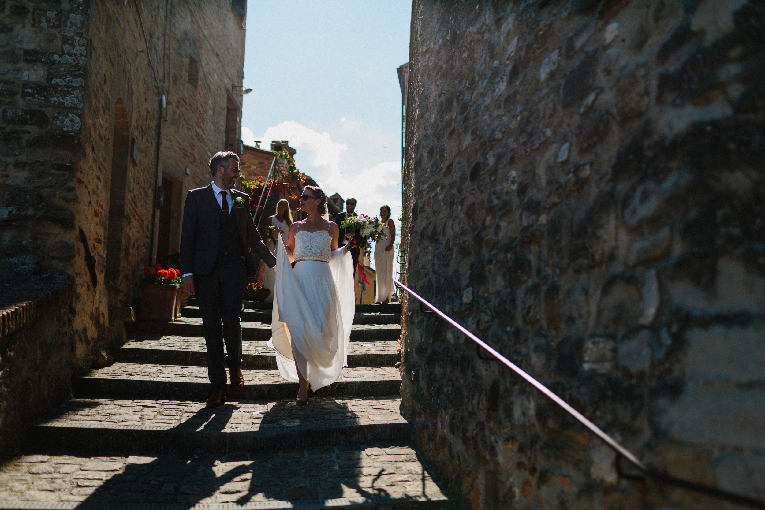 Lovely Christina wears a wedding dress by halfpenny London