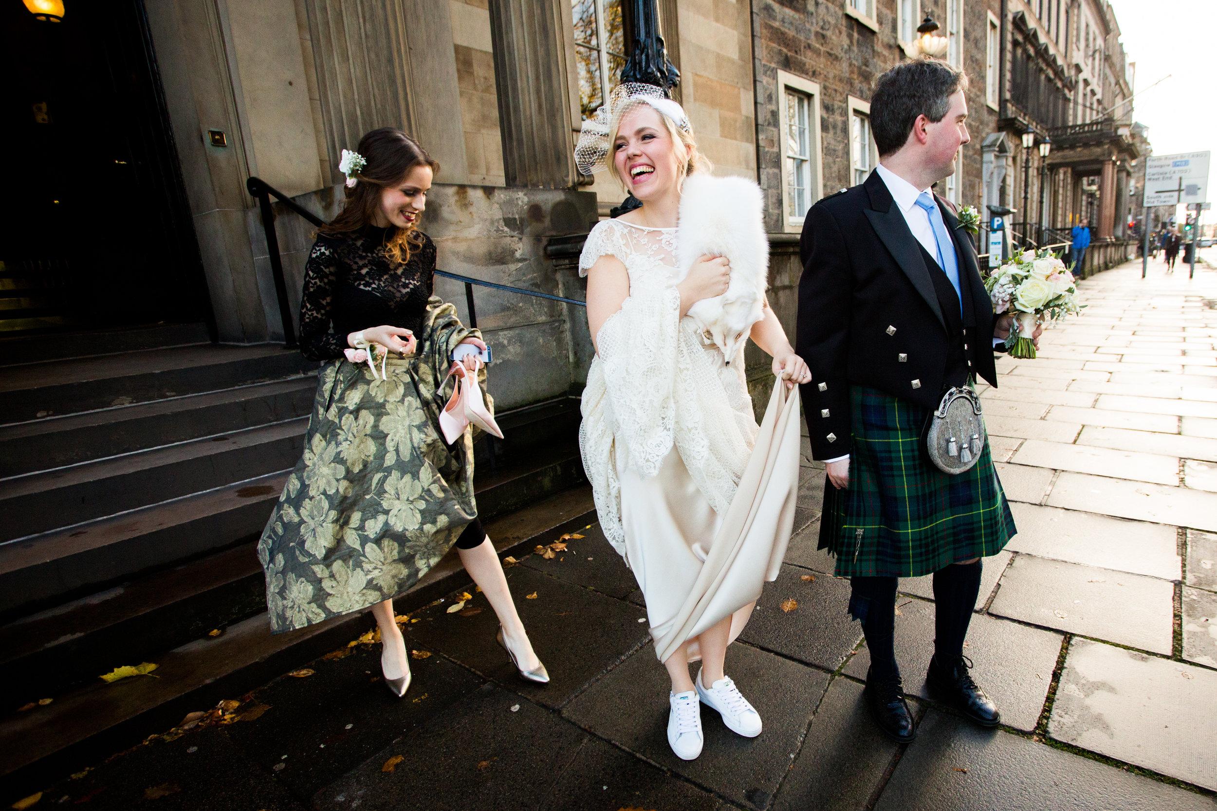 Gorgeous bride Terese wears a wedding dress by Halfpenny London