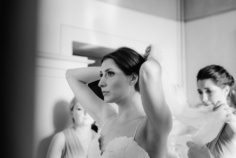 Beautiful bride Fran wears a wedding dress by Halfpenny London