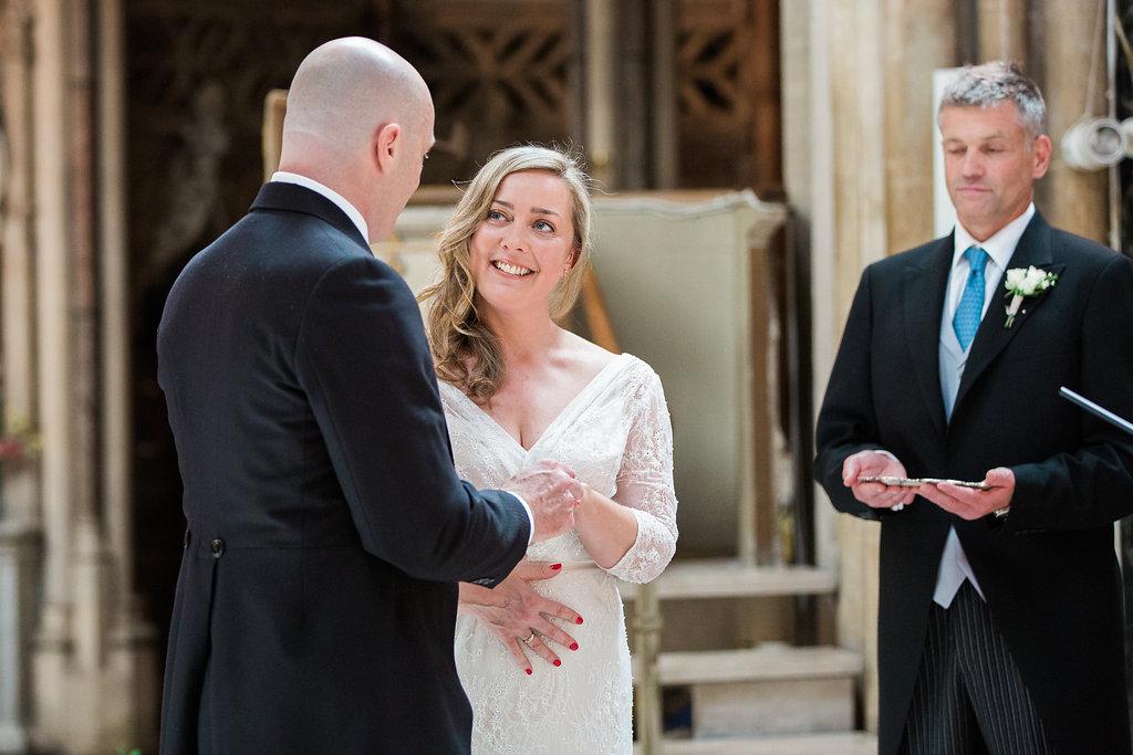 Beautiful bride Elizabeth wore a wedding gown by Halfpenny London