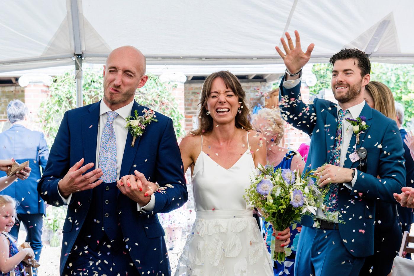 Beautiful bride Robyn wears a wedding dress by Halfpenny London