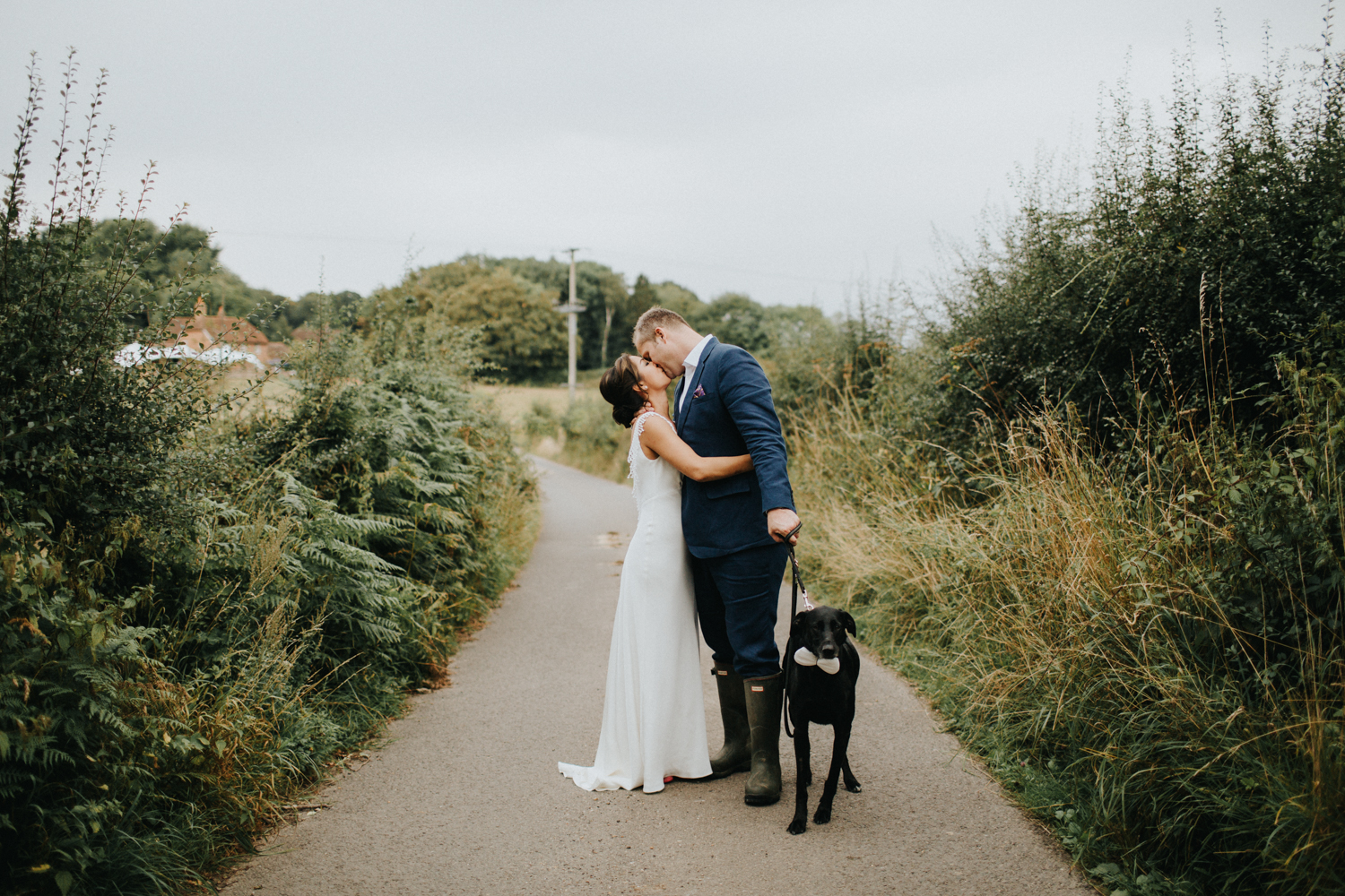 Beautiful bride Vivien wears a wedding dress by Halfpenny London
