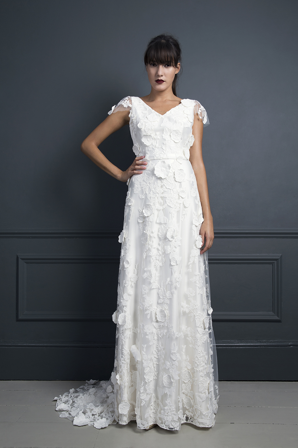 EBONY | WEDDING DRESS BY HALFPENNY LONDON