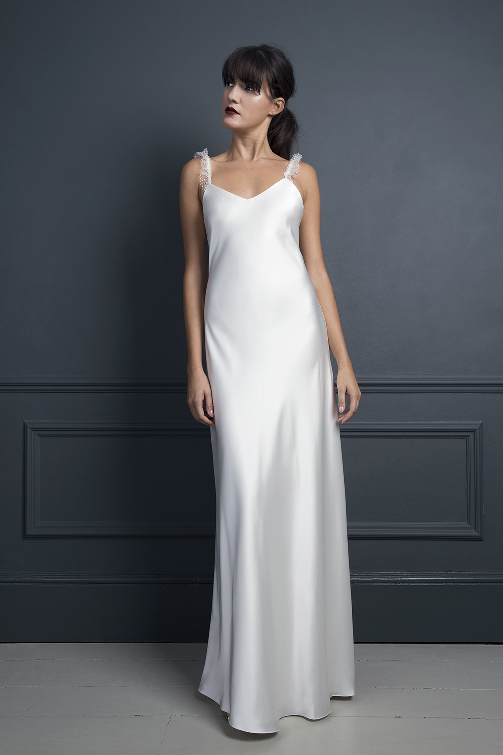 IRIS FRILL | WEDDING DRESS BY HALFPENNY LONDON