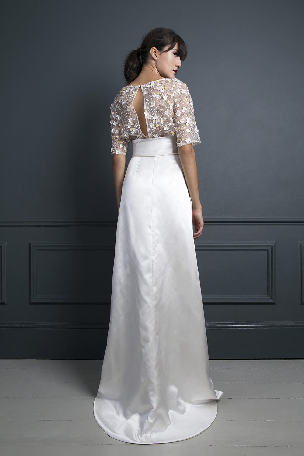 ITALIAN COCKTAIL SKIRT & RAF JACKET | WEDDING DRESS BY HALFPENNY LONDON