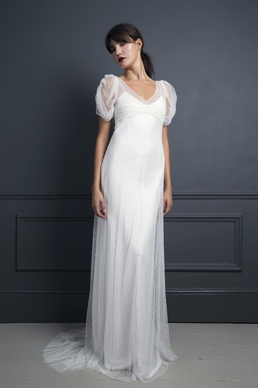 KATE MOSS DRESS WORN OVER IRIS SLIP | WEDDING DRESS BY HALFPENNY LONDON