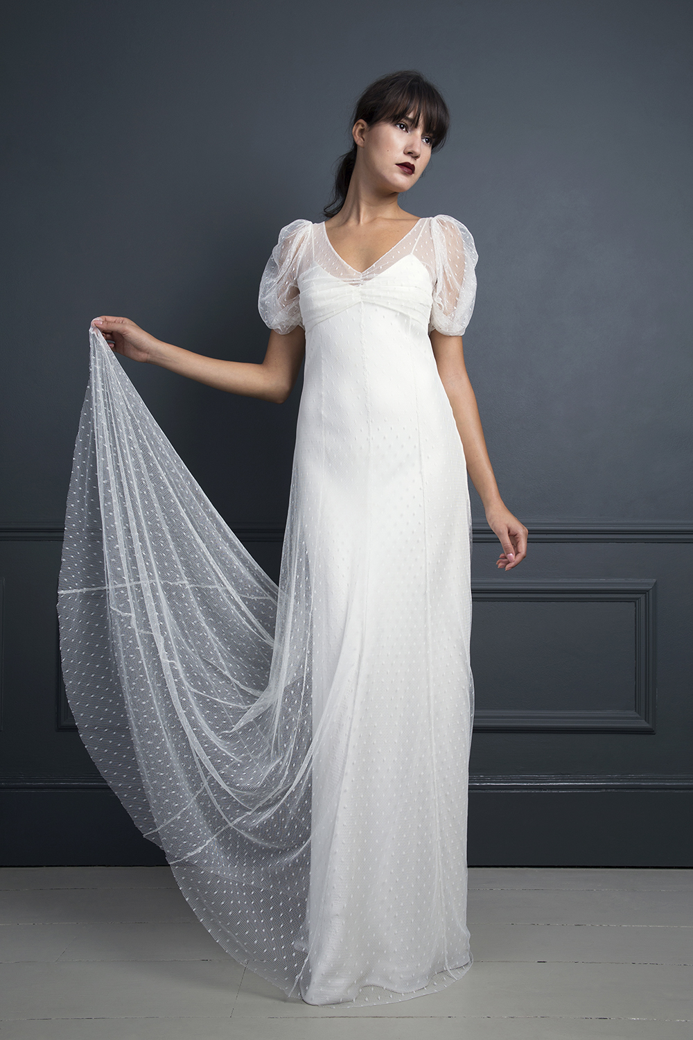 KATE MOSS DRESS WORN OVER IRIS SLIP | WEDDING DRESS BY HALFPENNY LONDON