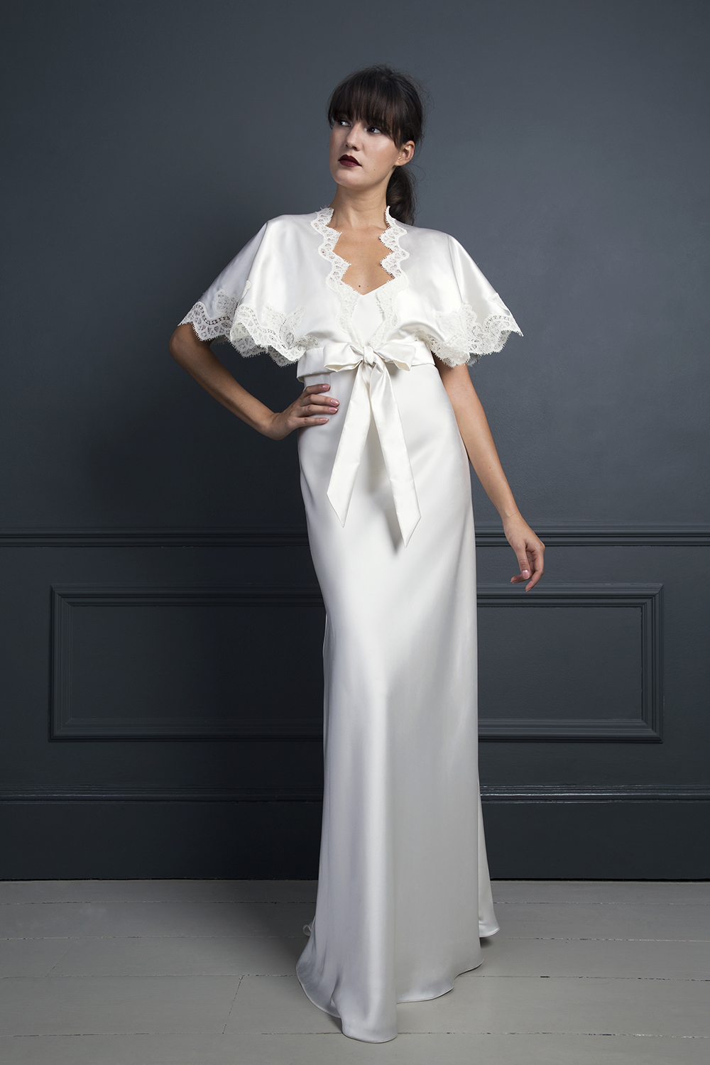KIKI KIMONO TOP & IRIS SLIP | WEDDING DRESS BY HALFPENNY LONDON