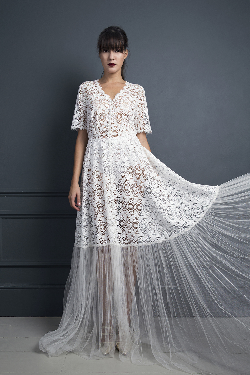 MORGAN SHIRT DRESS | WEDDING DRESS BY HALFPENNY LONDON