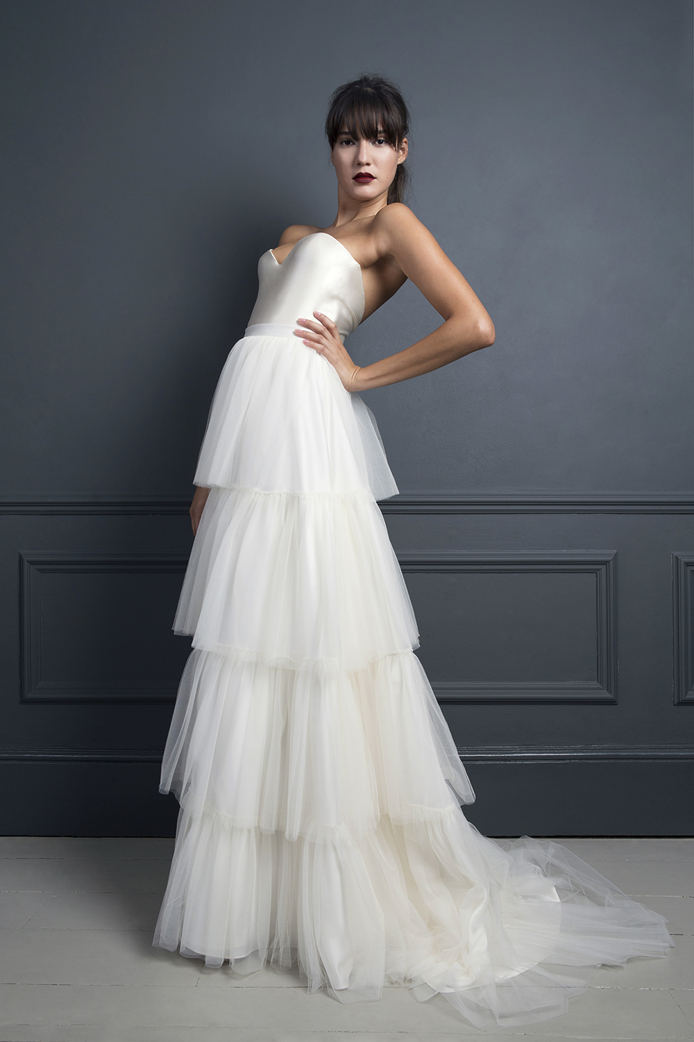 RITA SKIRT & LORETTA SATIN CORSET | WEDDING DRESS BY HALFPENNY LONDON