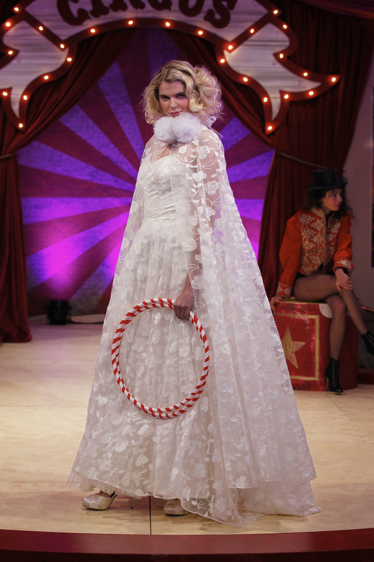 Esme dress & cape | Halfpenny London wedding dress on the Brides the Show catwalk