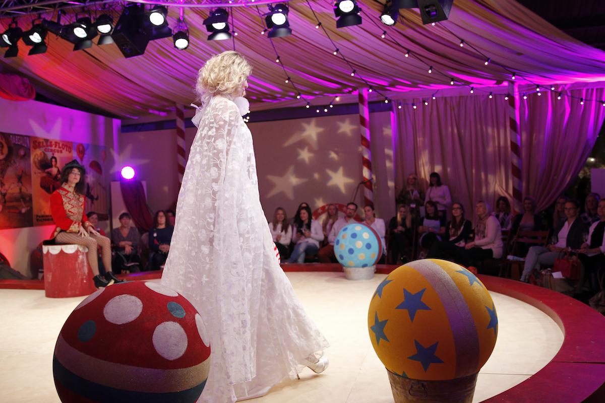 Esme dress & cape   Halfpenny London wedding dress on the Brides the Show catwalk