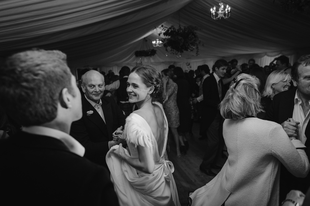 Beautiful bride Emma wears a wedding dress by Halfpenny London