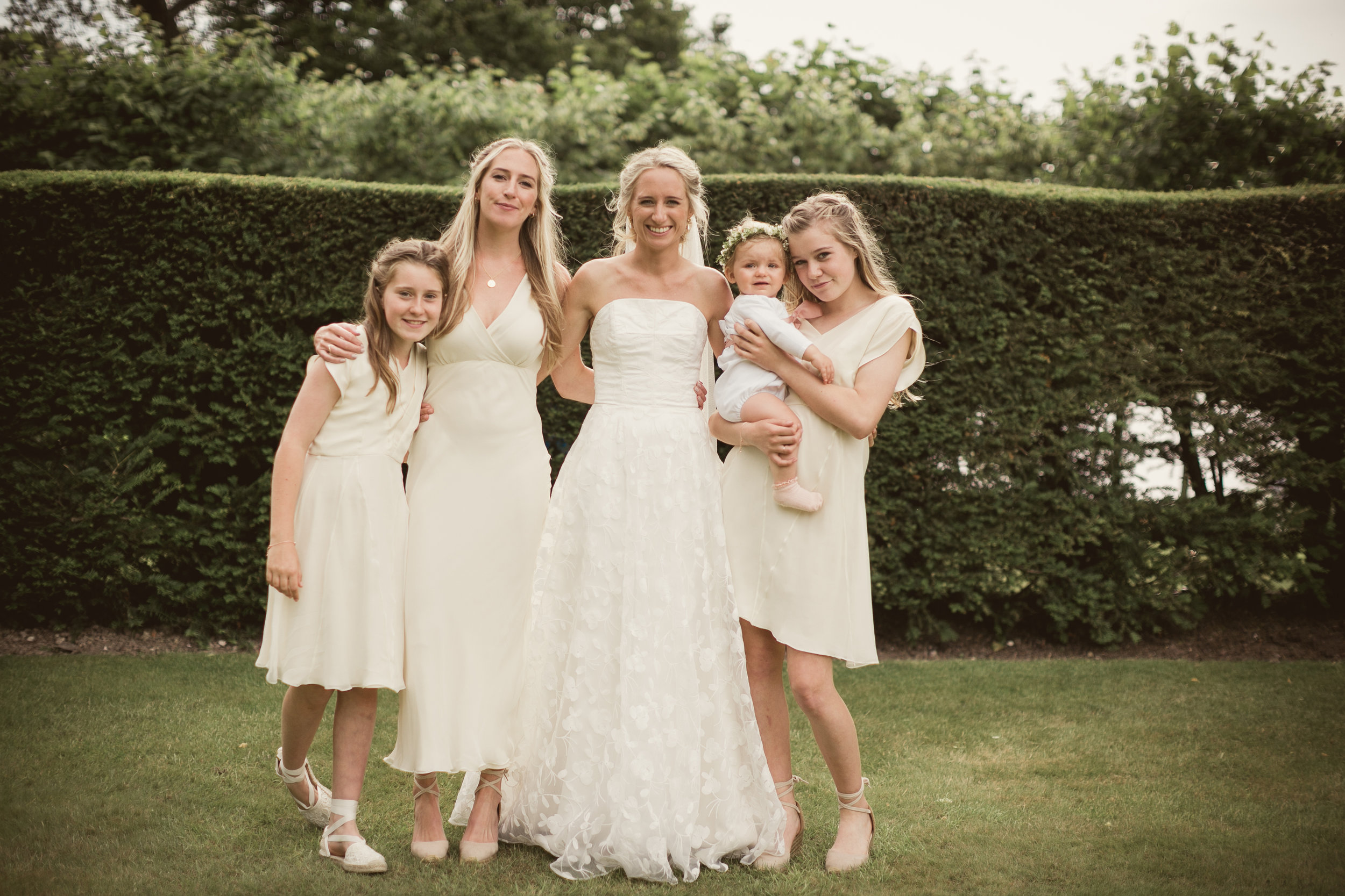 Beautiful bride Lucy wears a wedding dress by Halfpenny London