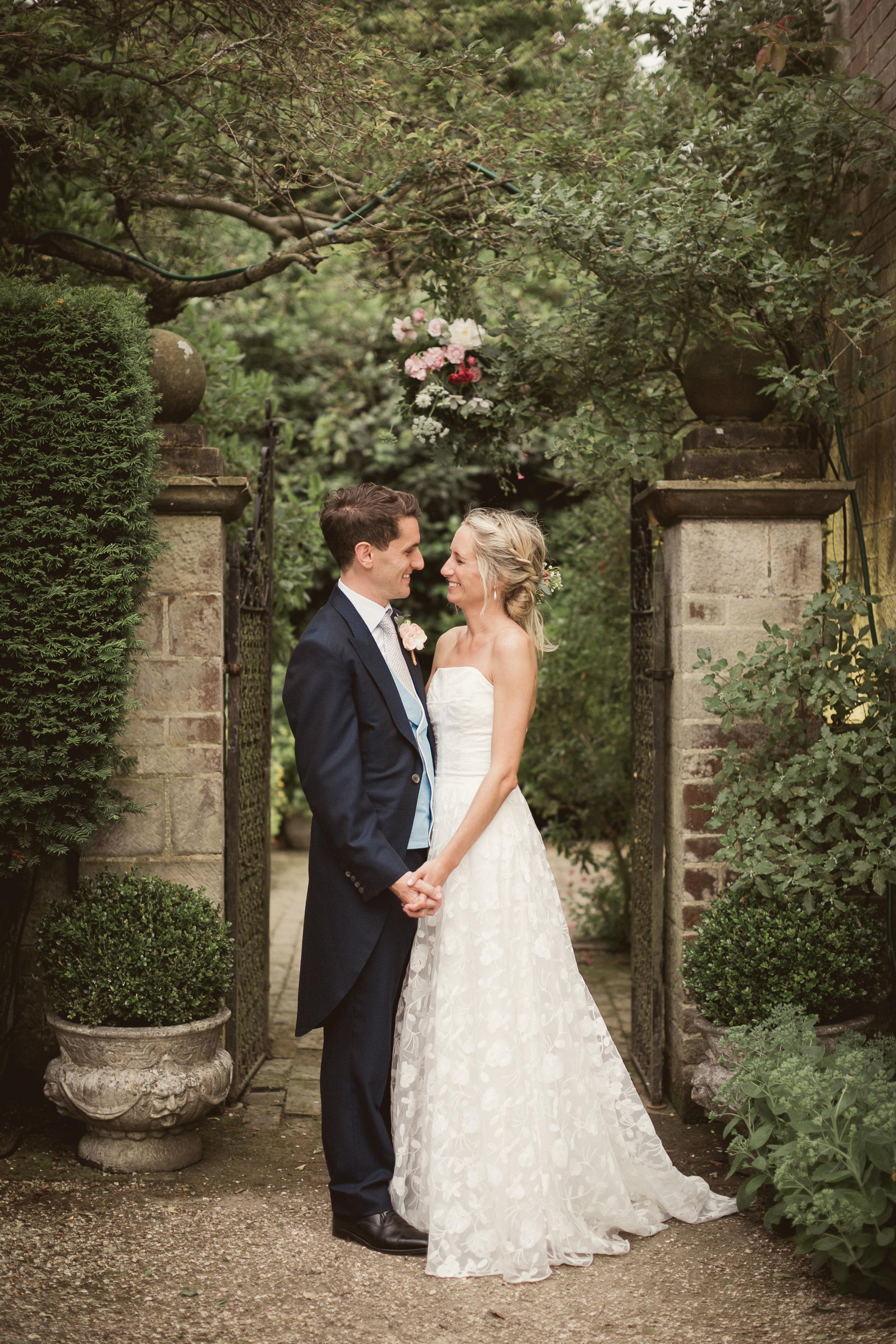 Beautiful bride Lucy wears a wedding dress by Halfpenny London