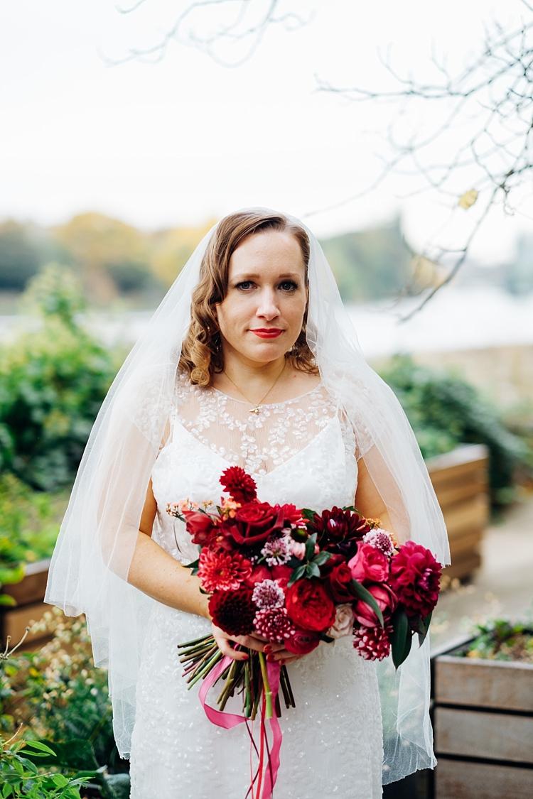 Beautiful bride Jasmyn wears a wedding dress by Halfpenny London