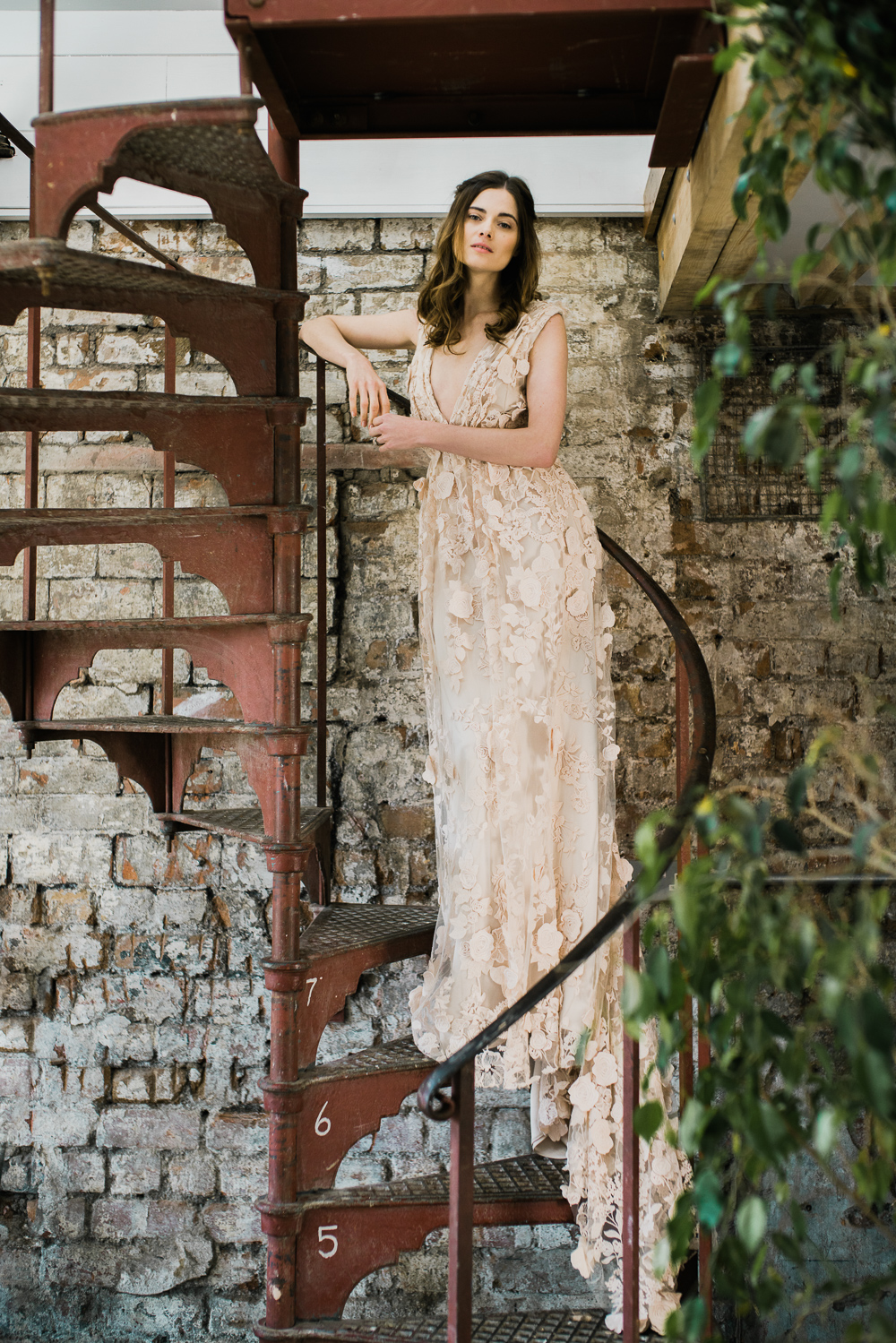 Wedding dress by Halfpenny London featured on Rock My Wedding blog   Image by John Barwood Photography