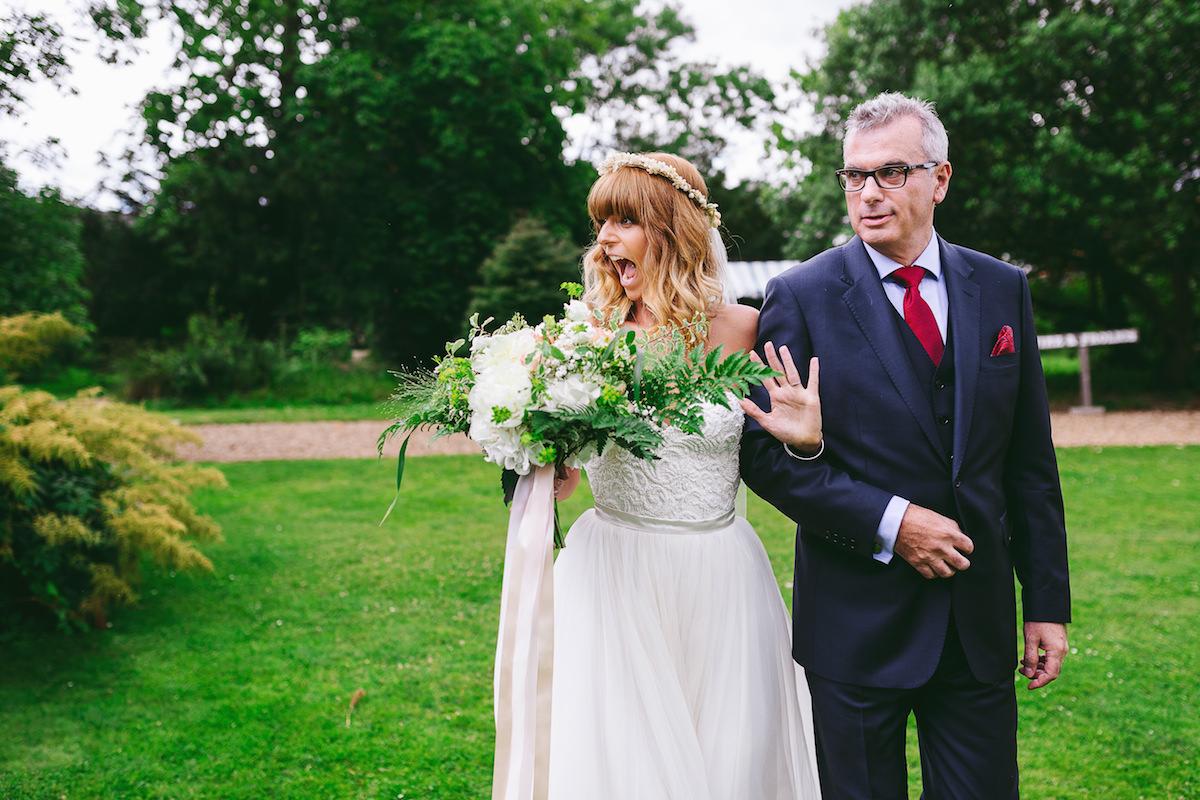 Beautiful bride Alexina wore a wedding dress by Halfpenny London
