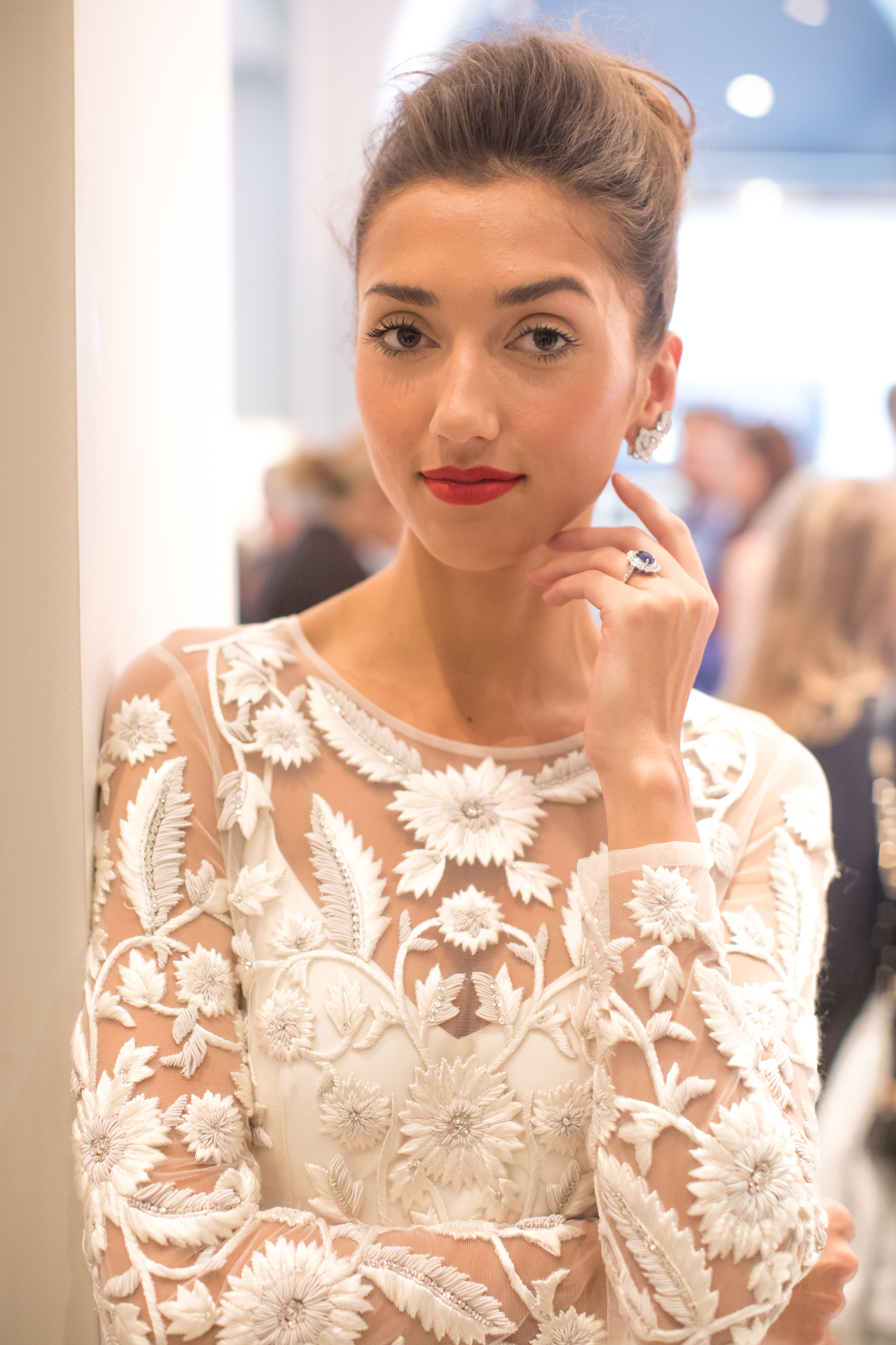 Halfpenny London wedding dresses at a Brides Magazine reader event with House of Garrard