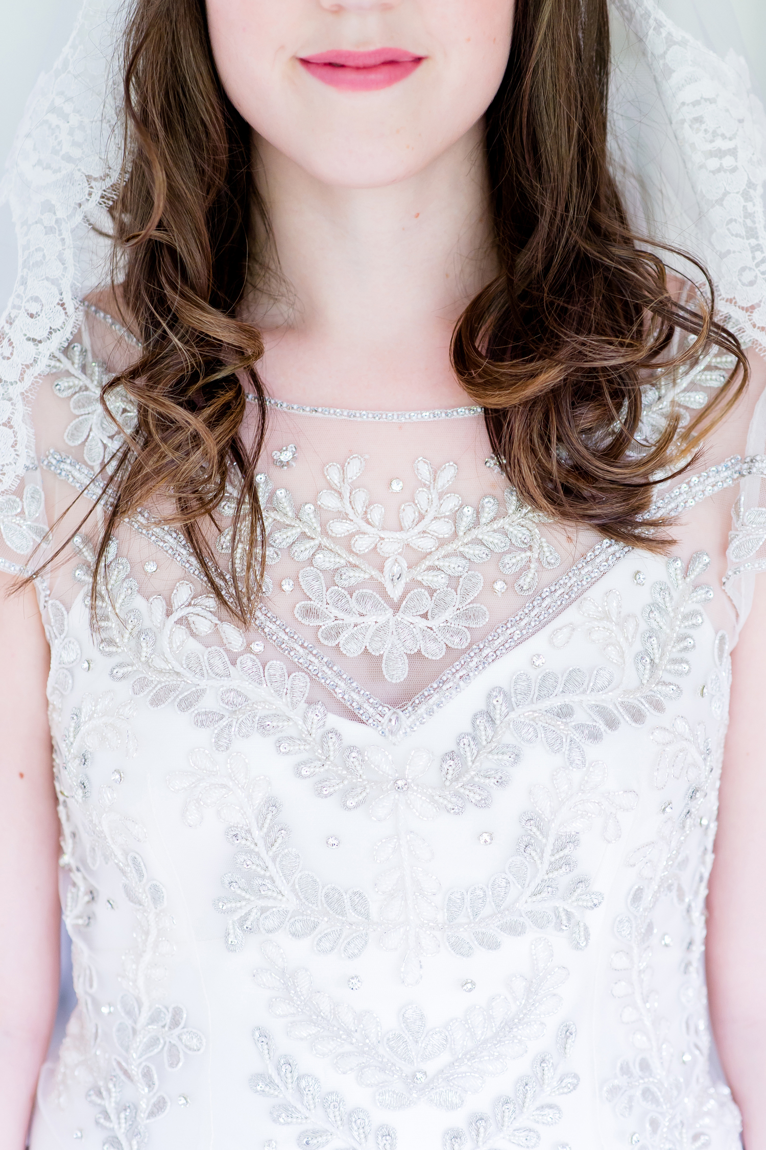 A gorgeous real bride wearing the Marianne wedding dress by Halfpenny London