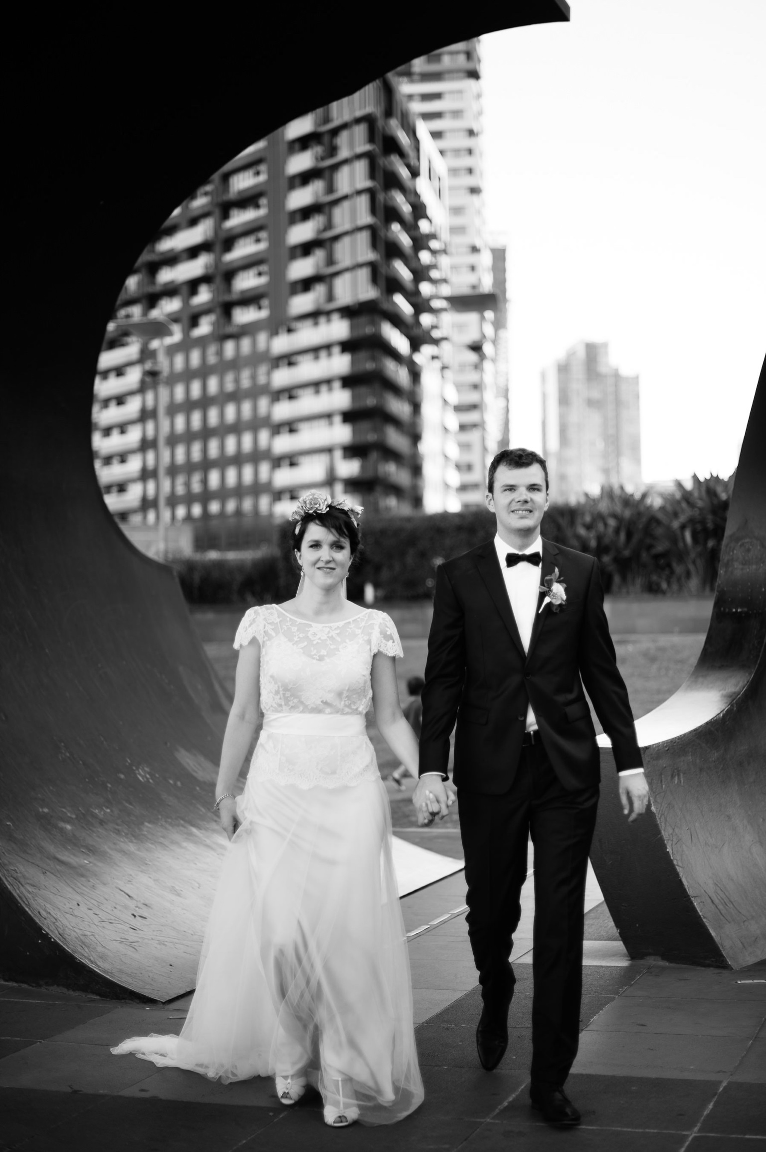 Beautiful bride Meredie wore a lace wedding dress by Halfpenny London