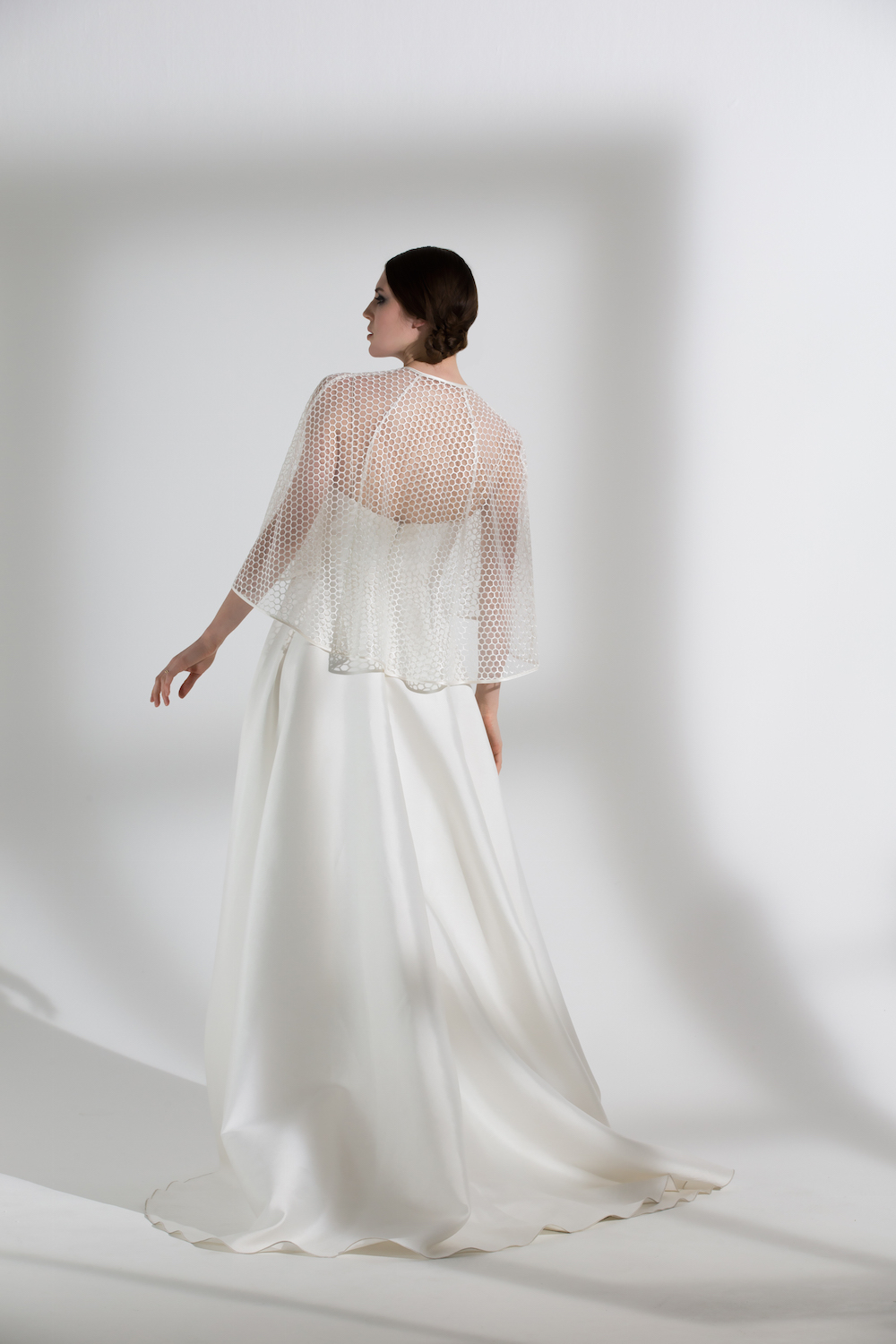 HONEYSUCKLE CAPE & ELLIE DRESS | WEDDING DRESS BY HALFPENNY LONDON