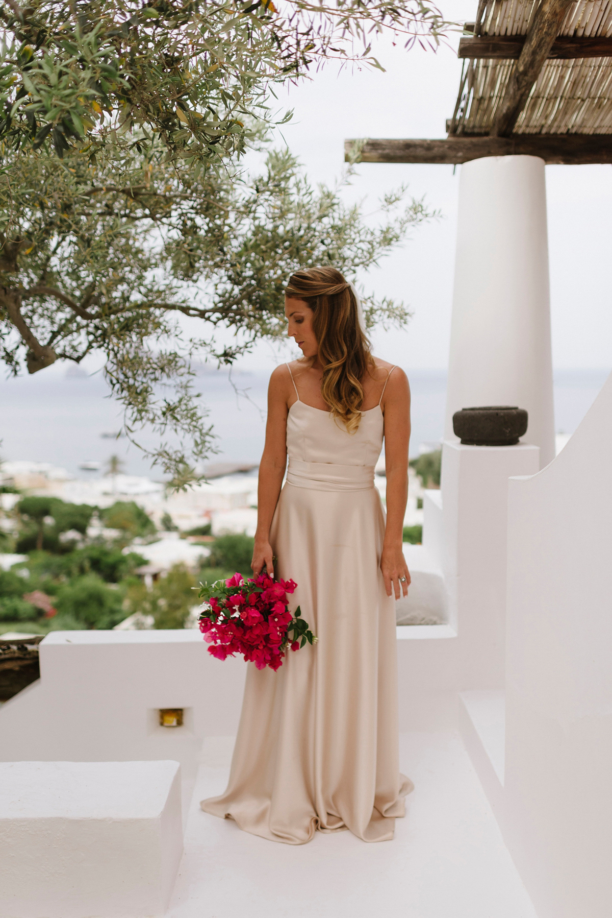 Beautiful bride Martha wore a wedding dress by Halfpenny London