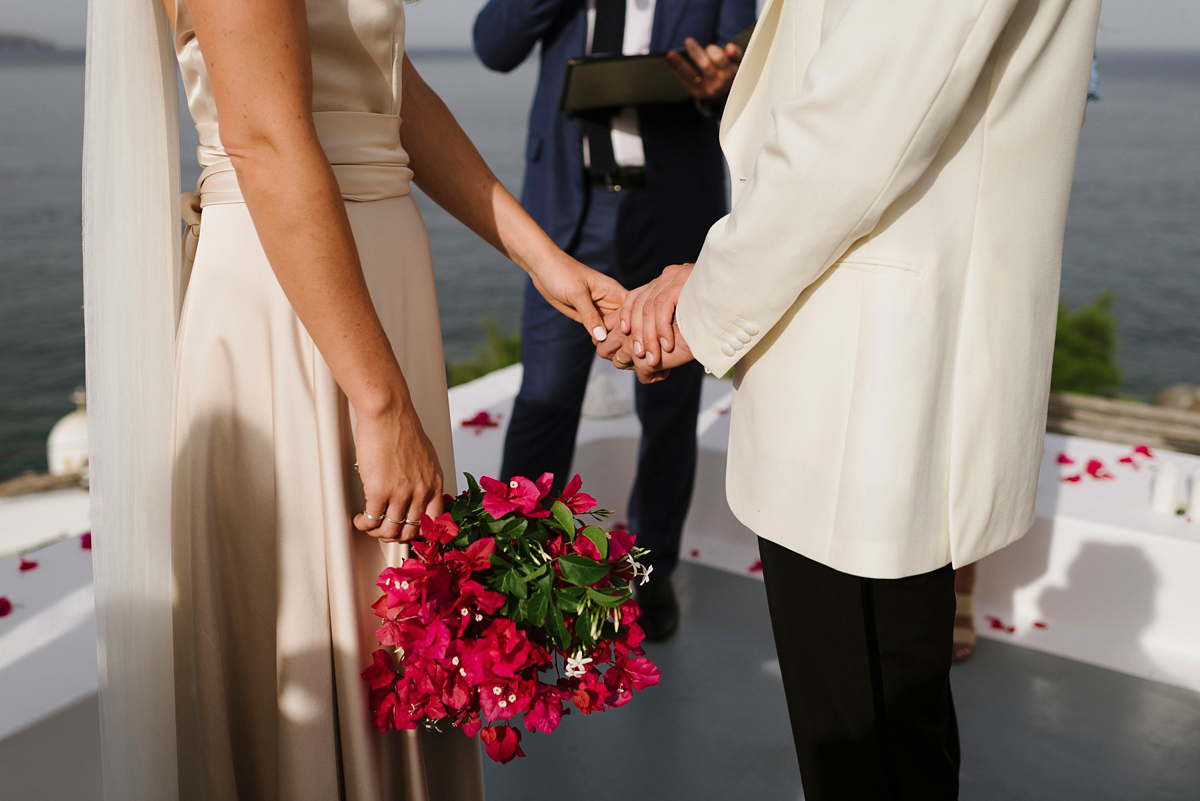 Beautiful bride Martha wore a wedding dress by Halfpenny London