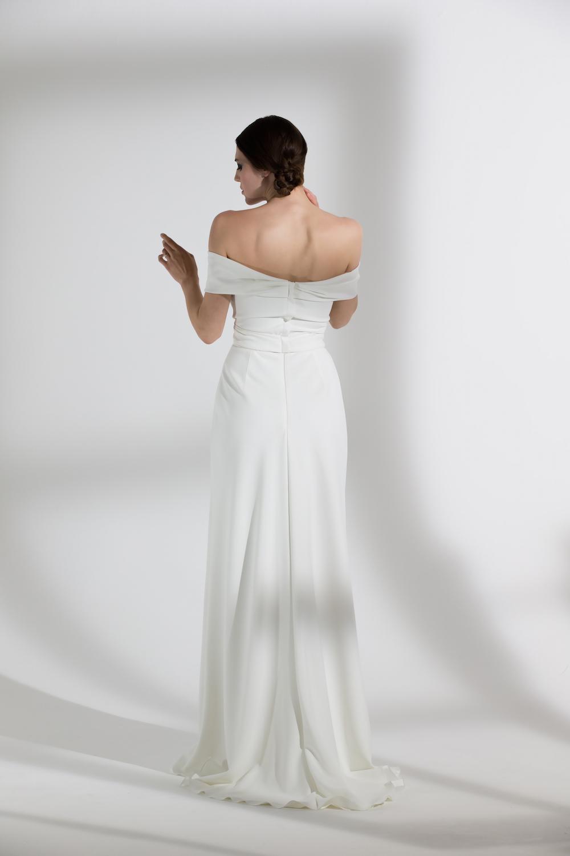 Daffodil | Off the shoulder wedding dress by Halfpenny London