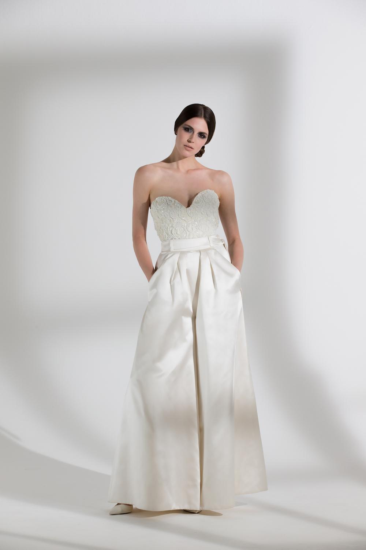 MARLENE TROUSERS & BEADED DITA CORSET   WEDDING DRESS BY HALFPENNY LONDON