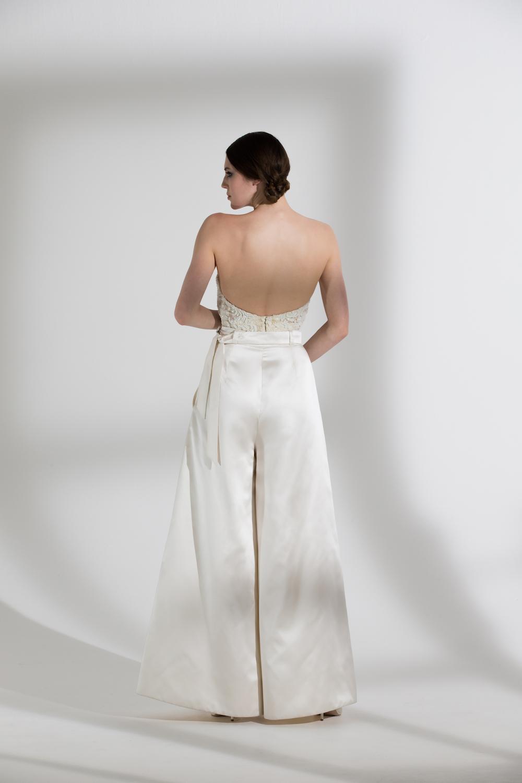 MARLENE TROUSERS & BEADED DITA CORSET | WEDDING DRESS BY HALFPENNY LONDON