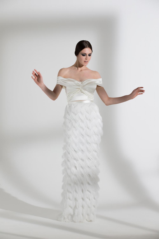 DAFFODIL TOP & IVY SKIRT | WEDDING DRESS BY HALFPENNY LONDON