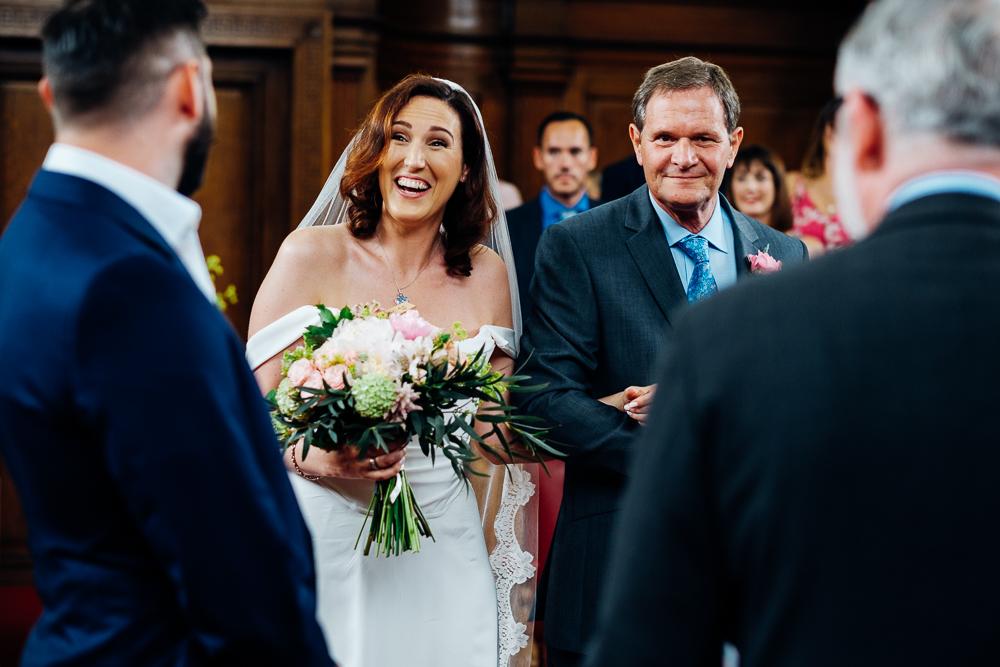 Beautiful bride Hannah wore a wedding dress by Halfpenny London