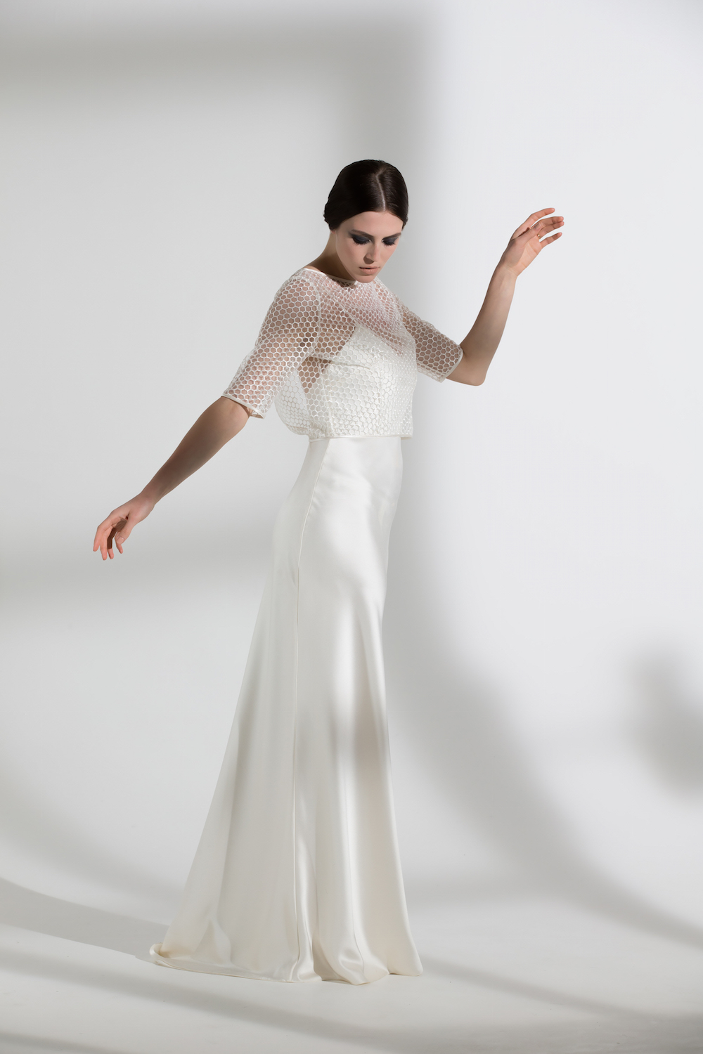 Honeysuckle top and Iris slip | Wedding dress and bridal separates by Halfpenny London