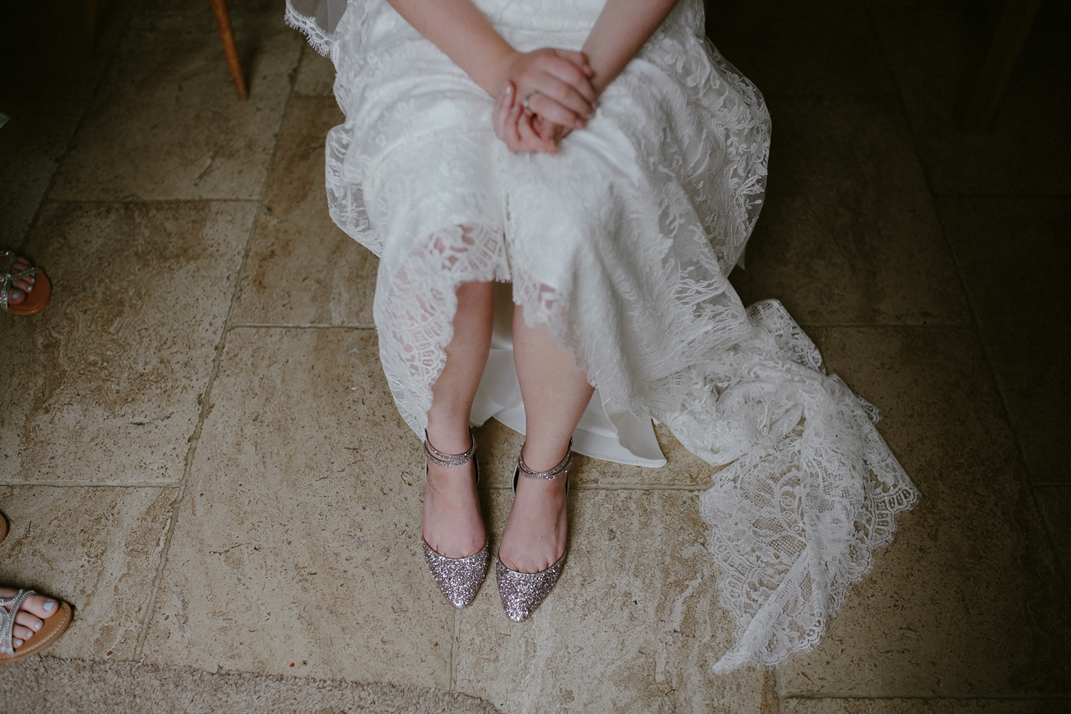 Beautiful bride Hannah wore a lace wedding dress by Halfpenny London