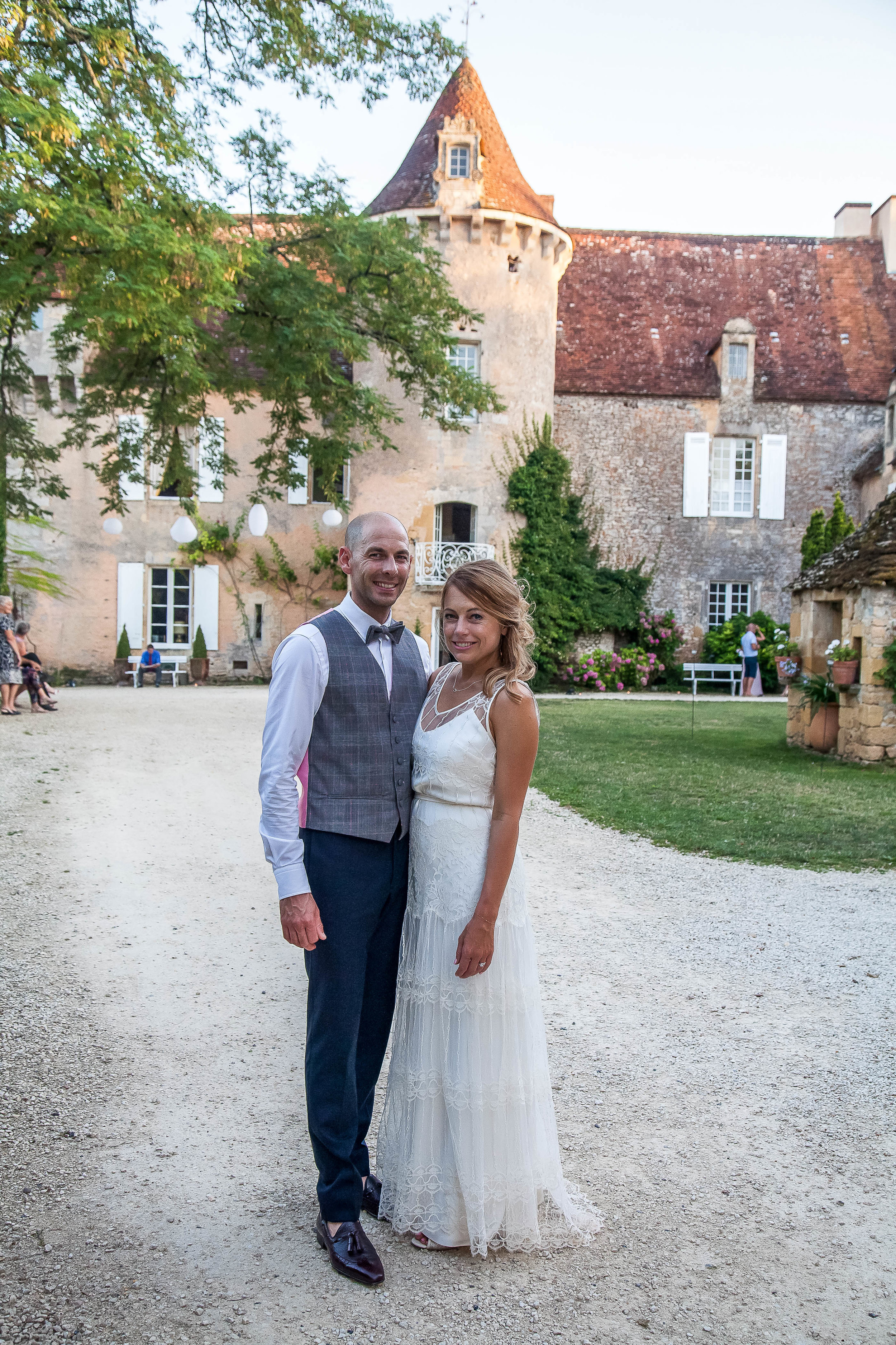 Beautiful bride Claire wore a lace wedding dress by Halfpenny London