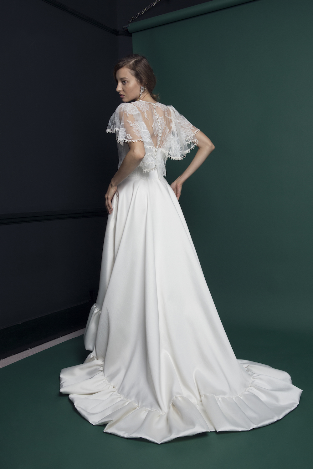 BREEZE DRESS & RIDLEY LACE TOP | WEDDING DRESS BY HALFPENNY LONDON