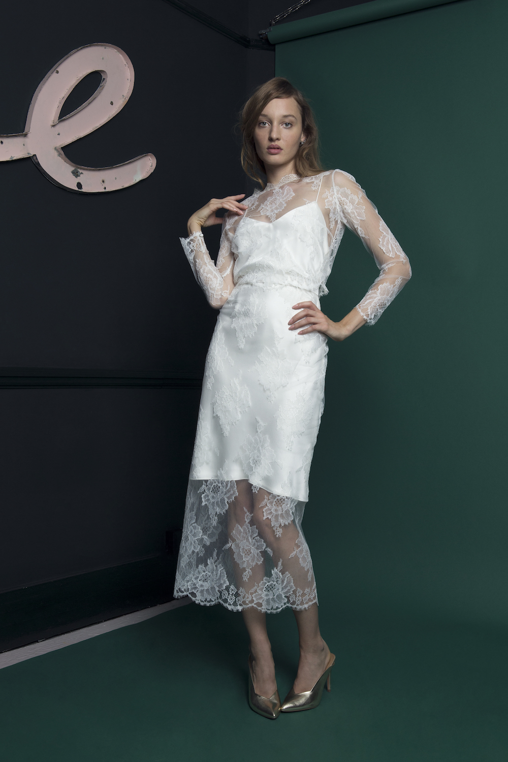 RIVER LACE TOP & SKIRT | WEDDING DRESS BY HALFPENNY LONDON