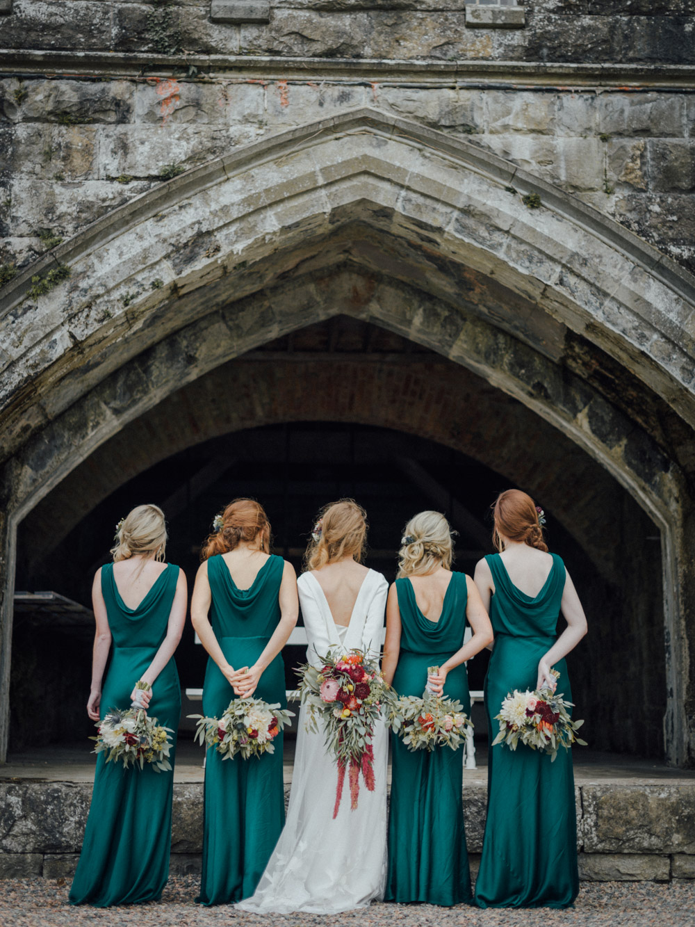 Beautiful bride Joanna wore a wedding dress - actually a skirt and top - by Halfpenny London