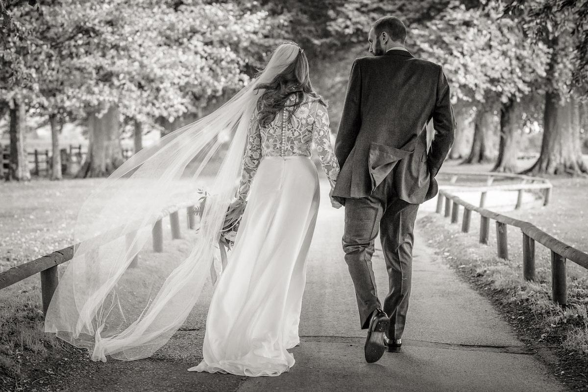 Beautiful bride Laura wore a wedding dress by Halfpenny London