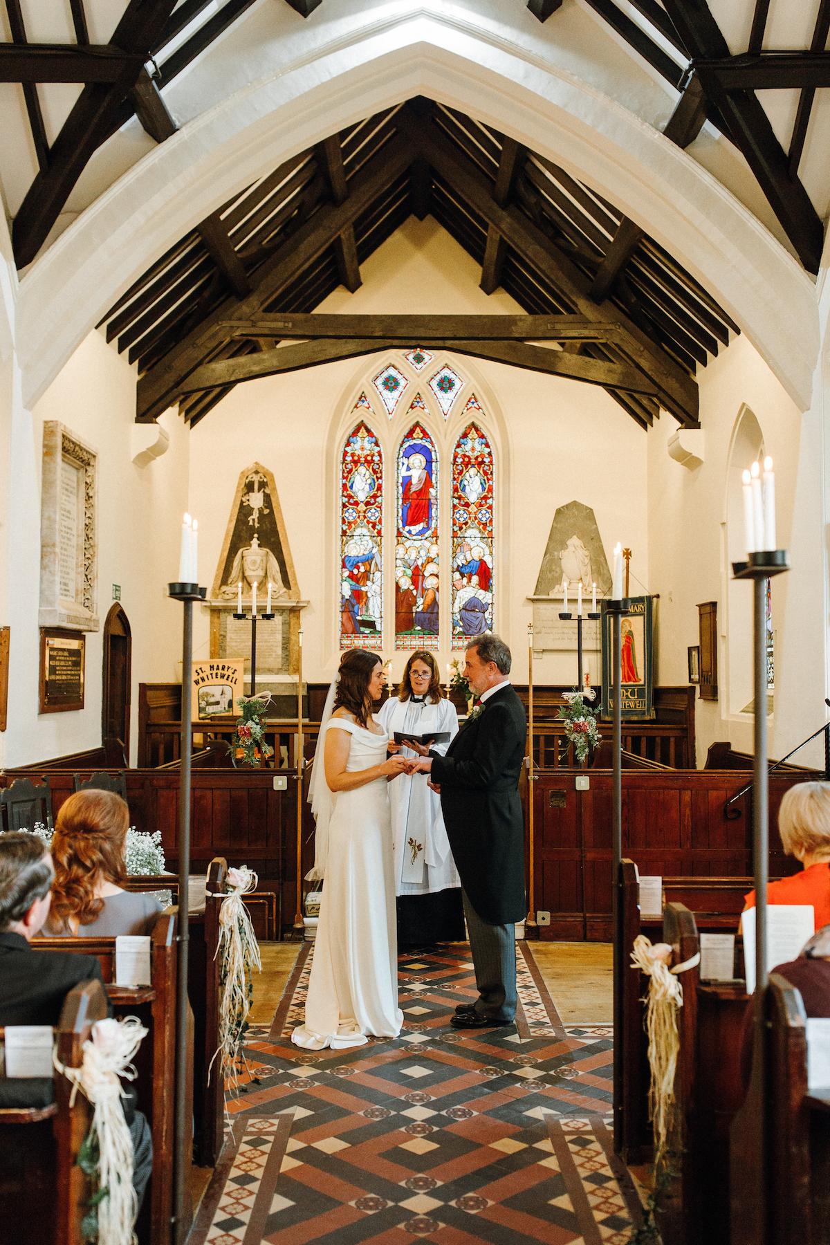 Beautiful bride Katie wore a wedding dress by Halfpenny London