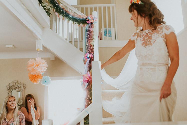 Beautiful bride Alice wore a wedding dress by Halfpenny London