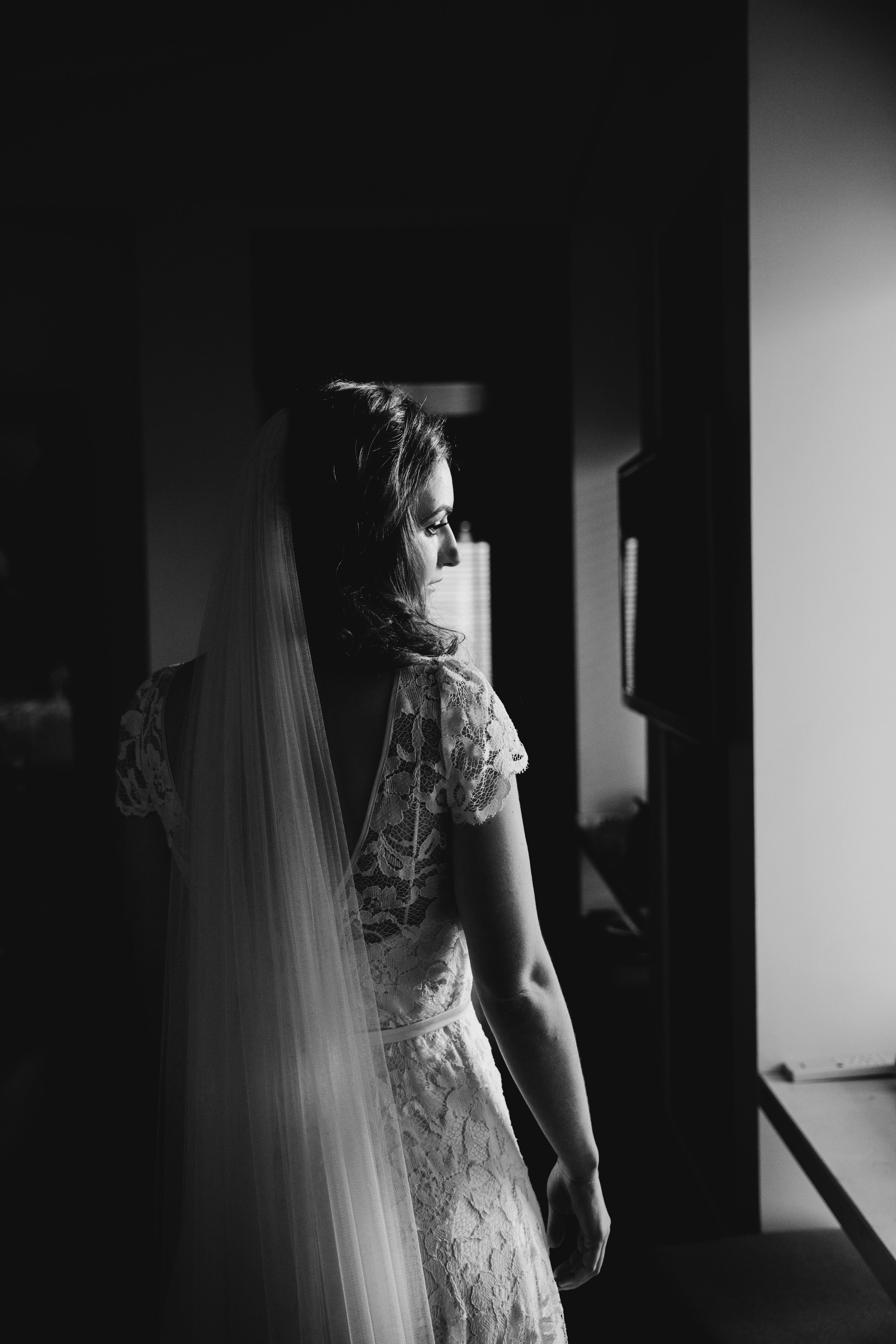Beautiful bride Sophie wore a lace wedding dress by Halfpenny London