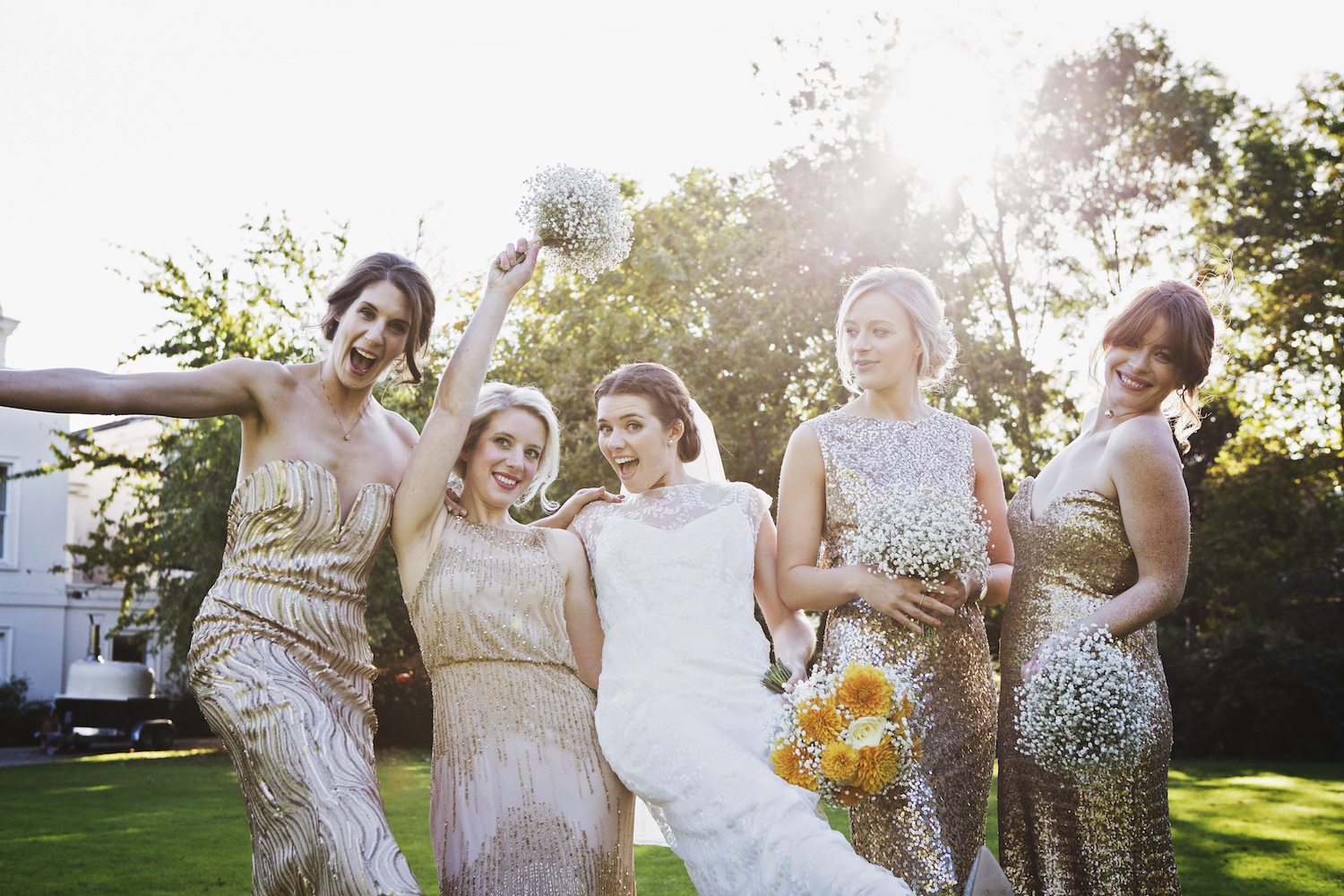 Beautiful bride Claire wore a wedding dress by Halfpenny London