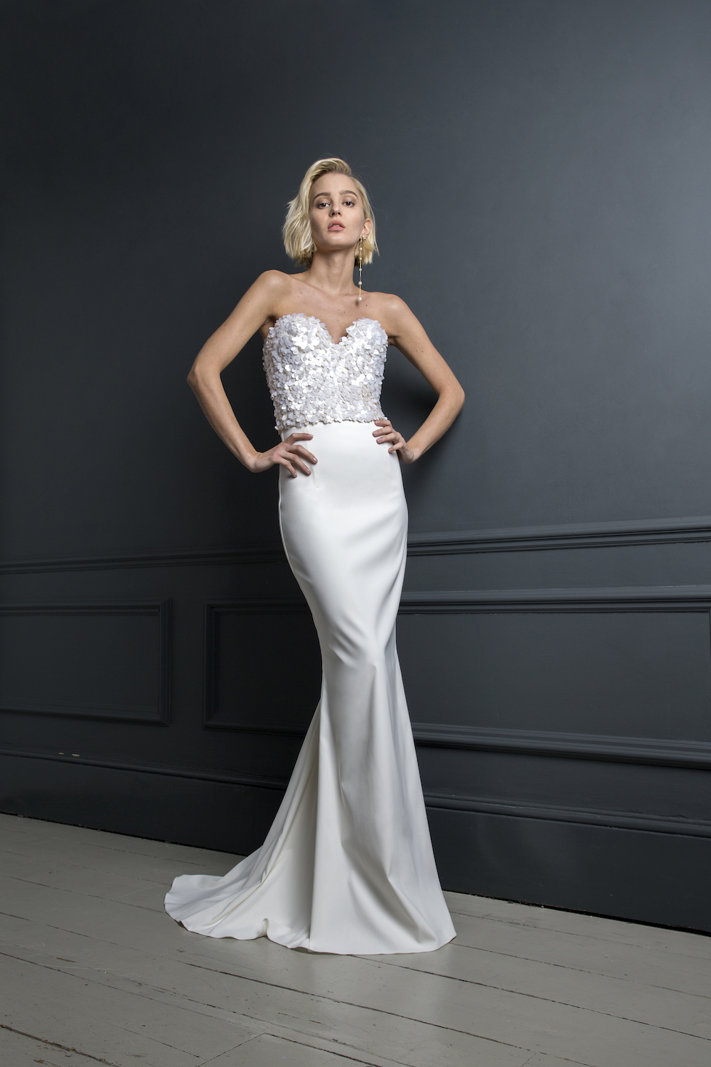 ALEXANDER CORSET & TOBI SKIRT | WEDDING DRESS BY HALFPENNY LONDON