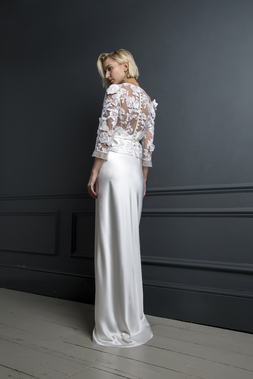 BOBBY TOP & VIOLET SLIP | WEDDING DRESS BY HALFPENNY LONDON