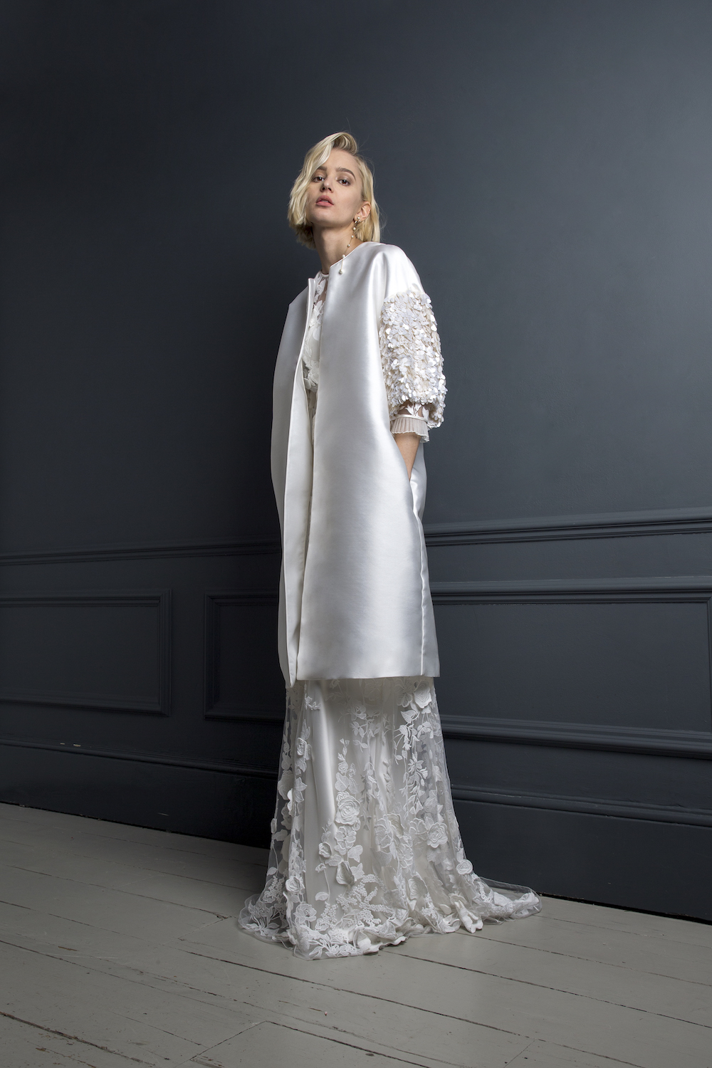 DUFFY COAT & BAY SKIRT | WEDDING DRESS BY HALFPENNY LONDON